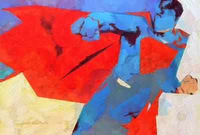 Painting - Superman by Lelia DeMello