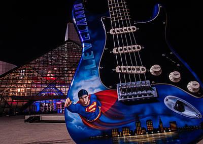 Superman Rocks Art Print
