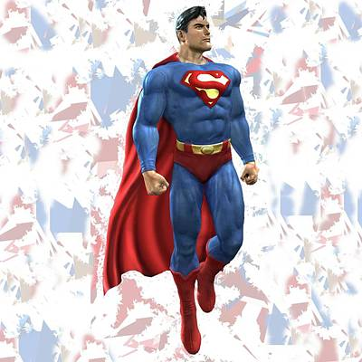 Crime Fighter Mixed Media - Superman Splash Super Hero Series by Movie Poster Prints