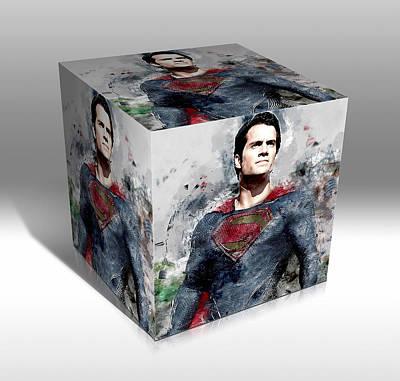 Mixed Media - Superman Superhero by Marvin Blaine