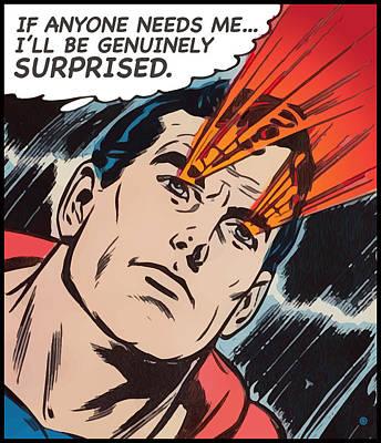 Digital Art - Superman Surprised by Gary Grayson