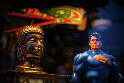 Photograph - Superman Vs Buddha by Keith Boone