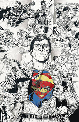 Dc Comics Drawing - Superman's Foes by James Holko
