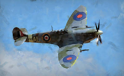 Painting - Supermarine Spitfire - 01 by Andrea Mazzocchetti