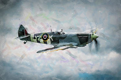 Painting - Supermarine Spitfire - 02 by Andrea Mazzocchetti