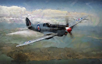 Painting - Supermarine Spitfire - 03 by Andrea Mazzocchetti