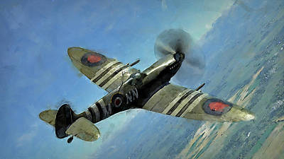 Painting - Supermarine Spitfire - 04 by Andrea Mazzocchetti