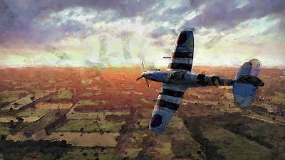 Painting - Supermarine Spitfire - 05 by Andrea Mazzocchetti