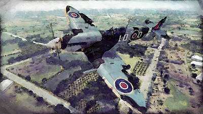 Painting - Supermarine Spitfire - 06 by Andrea Mazzocchetti