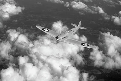 Art Print featuring the photograph Supermarine Spitfire Prototype K5054 Black And White Version by Gary Eason