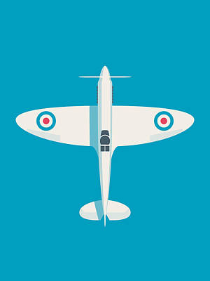 Rolls Royce Digital Art - Supermarine Spitfire Wwii Raf Fighter Aircraft by Ivan Krpan