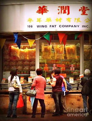 Photograph - Supermarket - Chinatown New York by Miriam Danar