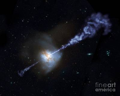 Intergalactic Space Photograph - Supermassive Black Hole by American School