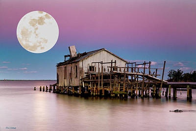 Photograph - Supermoon Fish House by Fran Gallogly