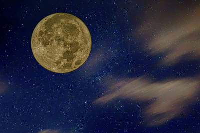 Photograph - Supermoon - Night Sky by Nikolyn McDonald