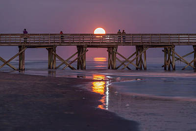 Photograph - Supermoon On The Isle Of Palms by Donnie Whitaker