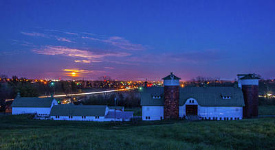 Photograph - Supermoon Over Lebanon Oh And Farm by Randall Branham