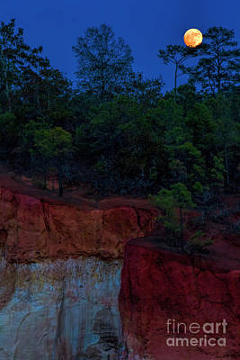 Photograph - Supermoon Over Providence Canyon by Barbara Bowen