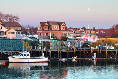 Photograph - Supermoon Over Shapleigh Island Portsmouth by Eric Gendron