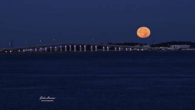 Photograph - Supermoon Over Somers Point by John Loreaux