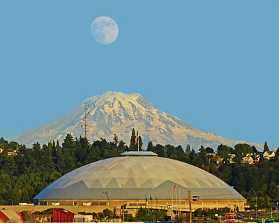 Photograph - Supermoon Over Tacoma Dome by Jack Moskovita