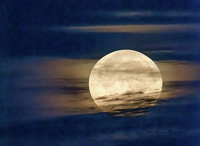 Photograph - Supermoon by William Beuther