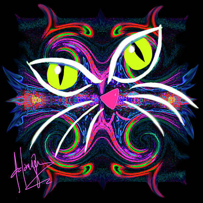Painting - Supernova Cat by DC Langer