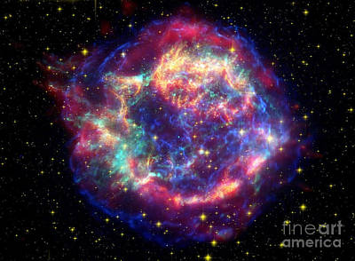 Supernova Remnant Cassiopeia A Art Print by Stocktrek Images