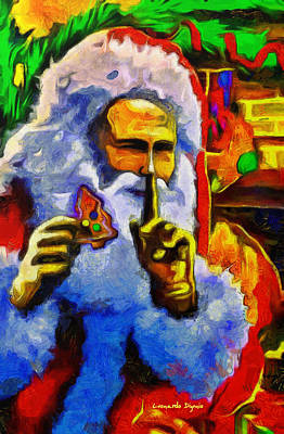 Vladimir Putin Digital Art - Superputin As Santa Clauss - Da by Leonardo Digenio
