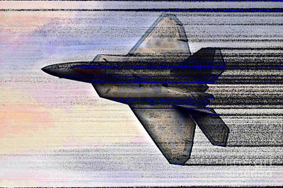 Digital Art - Supersonic F-22 Air Superiority Jet Fighter by Wernher Krutein