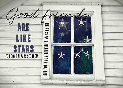 Superstars Quote Art Print by JAMART Photography