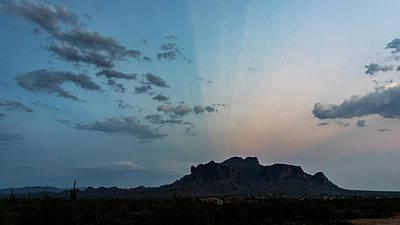 Photograph - Superstition Blue Hour  by Saija Lehtonen