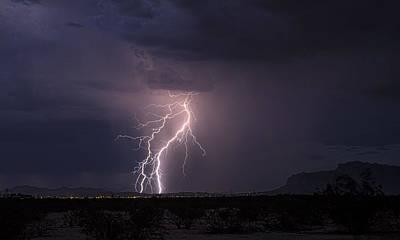 Photograph - Superstition Lightning  by Saija  Lehtonen