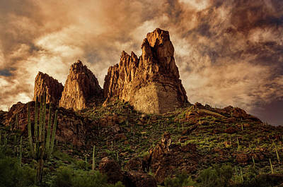 Photograph - Superstition Magic Hour  by Saija Lehtonen