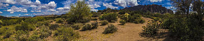 Photograph - Superstition Mountain East View In Panorama by Roger Passman