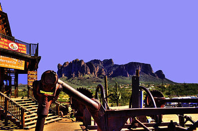 Photograph - Superstition Mountain From Goldfield Ghost Town  by Roger Passman