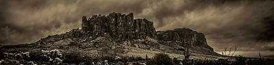Photograph - Superstition Mountain Gathering Storm Clouds by Roger Passman