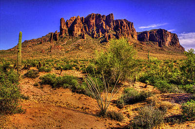 Photograph - Superstition Mountain Late Afternoon by Roger Passman