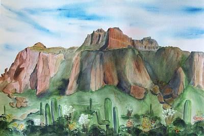 Superstition Mountain Art Print by Vivian Larson