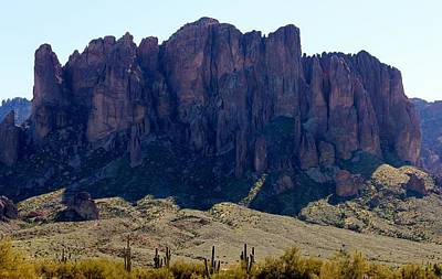 Photograph - Superstition Mountains by Christy Pooschke