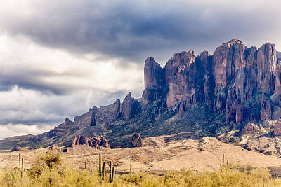 Lenz Wall Art - Photograph - Superstition Mountains by George Lenz