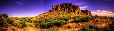 Photograph - Superstition Mountains In Panorama Late Afternoon by Roger Passman