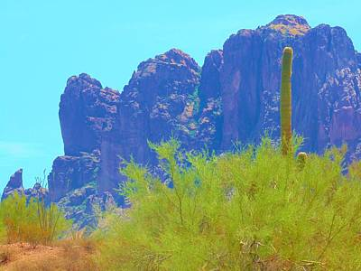 Photograph - Superstition Mountains by Michelle Dallocchio