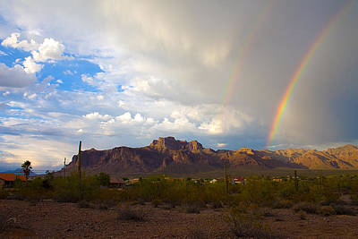 Arizona Photograph - Superstition Rainbows by Chuck Brown