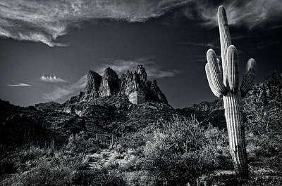 Photograph - Superstition Wilderness In Black And White  by Saija Lehtonen