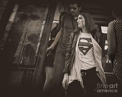 Supergirl Photograph - Superwoman On A Mission by Norman Gabitzsch