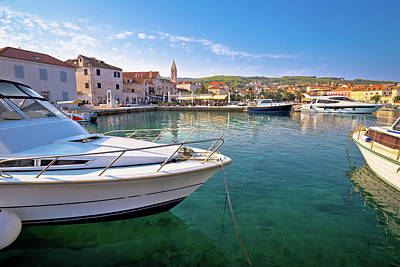 Photograph - Supetar On Brac Island Turquoise Waterfront View by Brch Photography