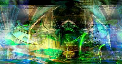 Digital Art - Suppleness In A Green Light by Art Di
