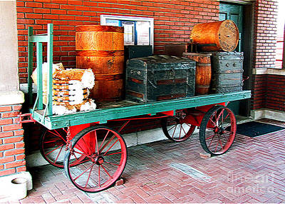 Dolley Photograph - Supply Wagon by Steve C Heckman