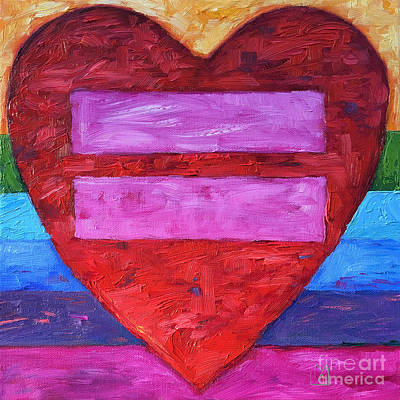 Support Gay Marriage Rights Original by Leslie Alfred McGrath